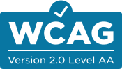 Logo of WCAG Version 2.0 Level AA